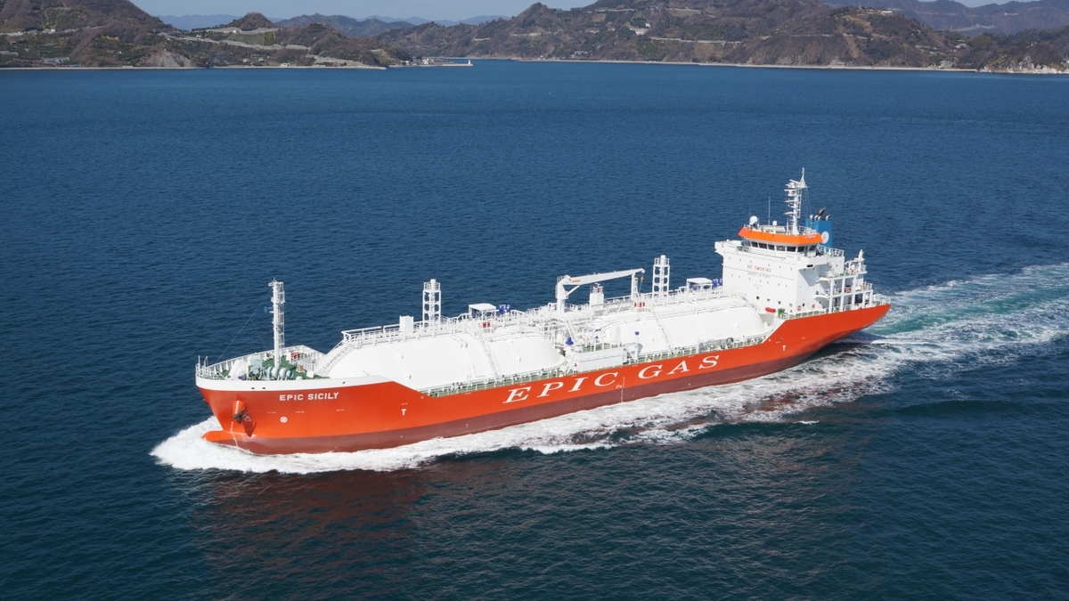 Epic Gas has exercised the option to purchase the vessel under charter contract (Image: Epic Gas)
