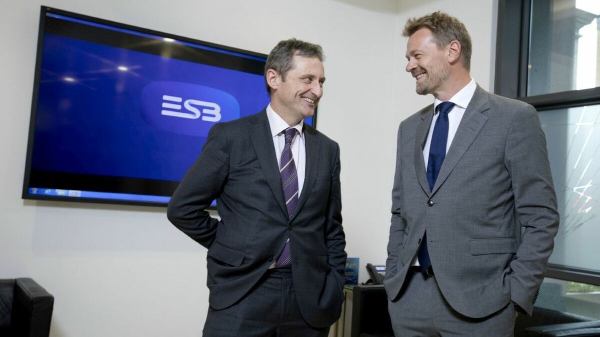 Jim Dollard ESB with Jens Økland, SVP for business development, new energy, Equinor