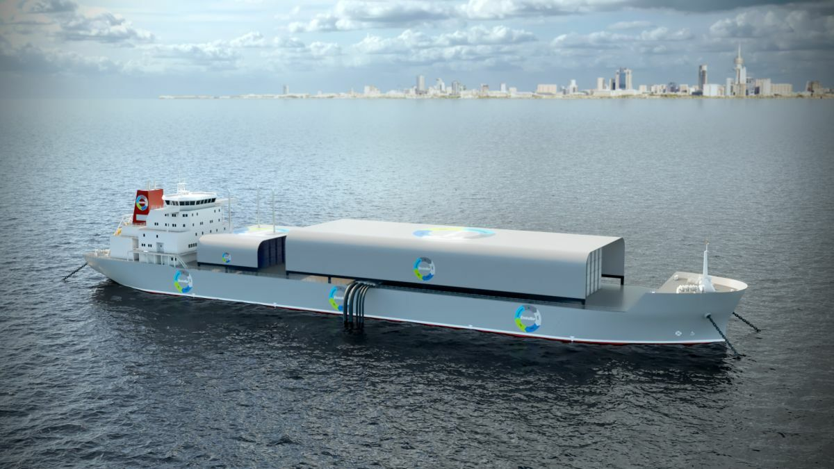 EnviroNor's concept involves converting a tanker into a desalination vessel (image: EnviroNor)