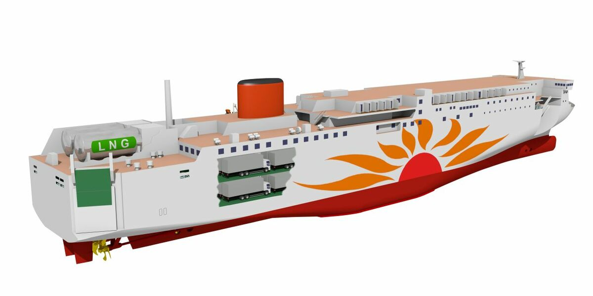 MOL plans to order two LNG-fuelled ferries from Mitsubishi Shipbuilding Co. in December 2019