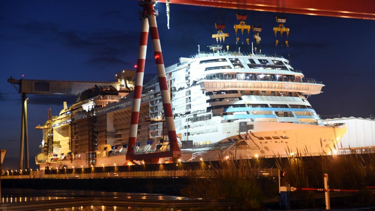 MSC Grandiosa – a stretched version of other vessels (image:Bernard Biger/Chantiers de l'Atlantique)
