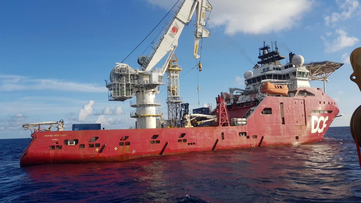 With a 354-tonne bollard pull, Skandi Hercules also has the capabilities of an anchor handler