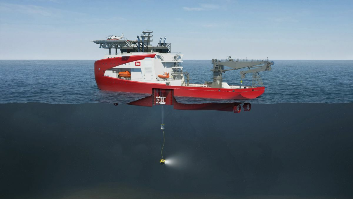 Royal IHC's new construction vessel can launch ROVs over the side or through a moonpool