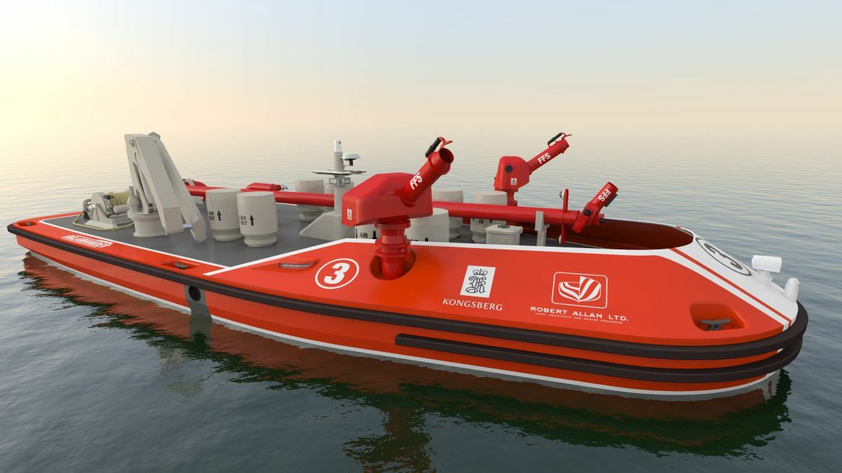 Autonomous workboats reduce offshore firefighting risk