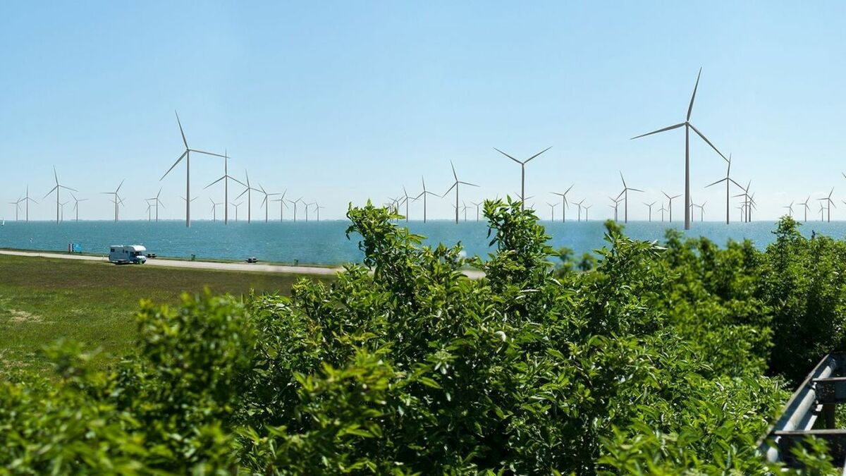 Hexagonal windfarm meets energy and environmental requirements