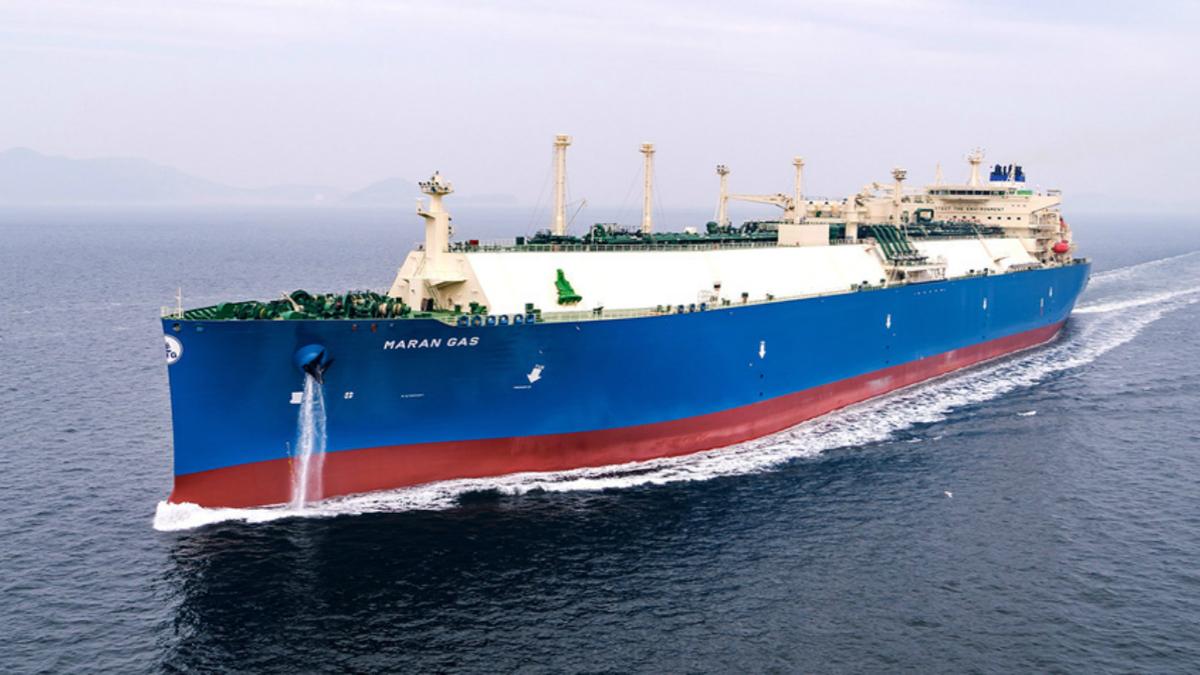 First air-lubricated LNG carrier joins Maran Gas fleet