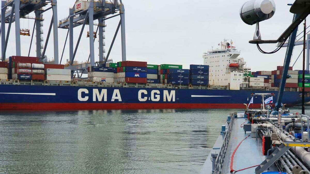 CMA CGM refuelling with sustainable biofuel will help shape 2020 trends (credit: GoodFuels)