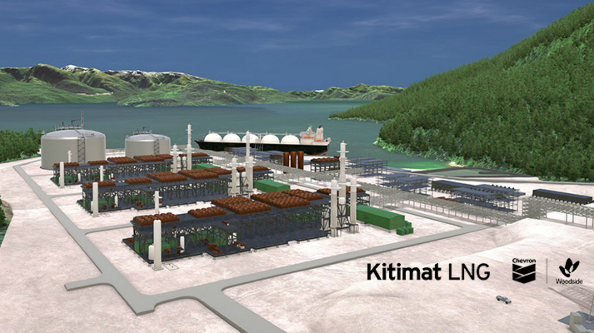 Kitimat LNG will have three trains producing 18 mta of LNG (image: Chevron)