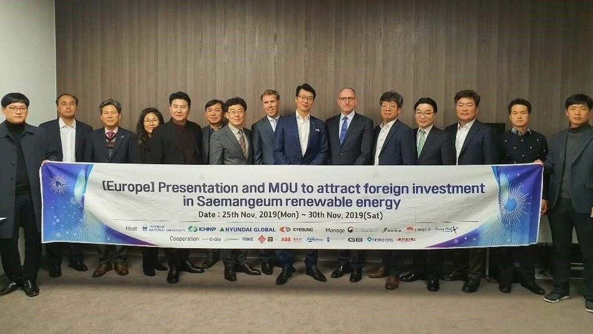 Dutch and South Korean partners to develop offshore wind in Saemangeum complex