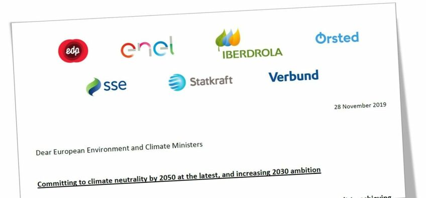 The letter was signed by Ørsted, EDP, Enel, Iberdrola, SSE, Statkraft and Verbund