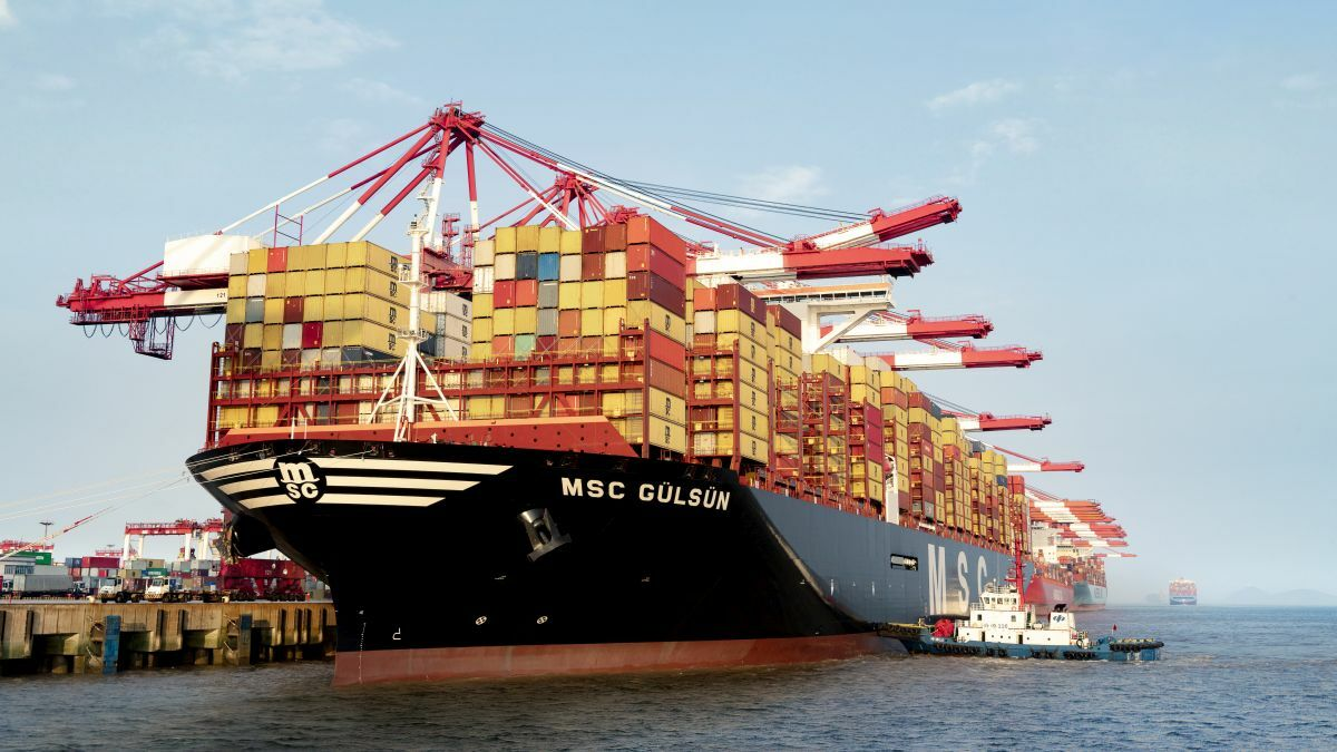 Mega container ships, like the 23,000 TEU MSC Gülsün, are transforming the sector