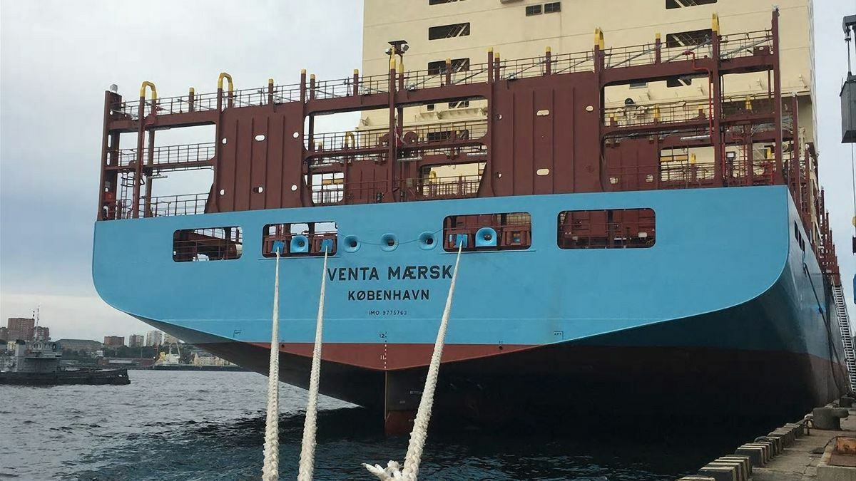 Venta Maersk was the first of Maersk Line's vessels to trial the Northern Sea Route