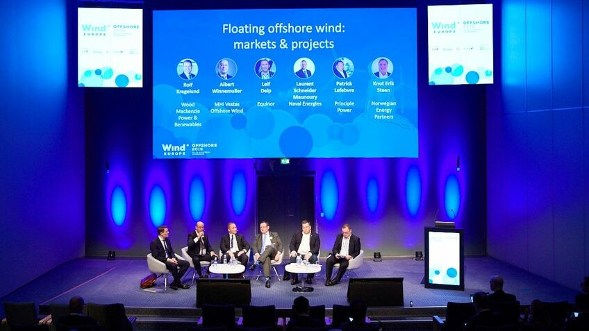 Sessions at WindEurope Offshore 2019 focused on floating wind's massive potential