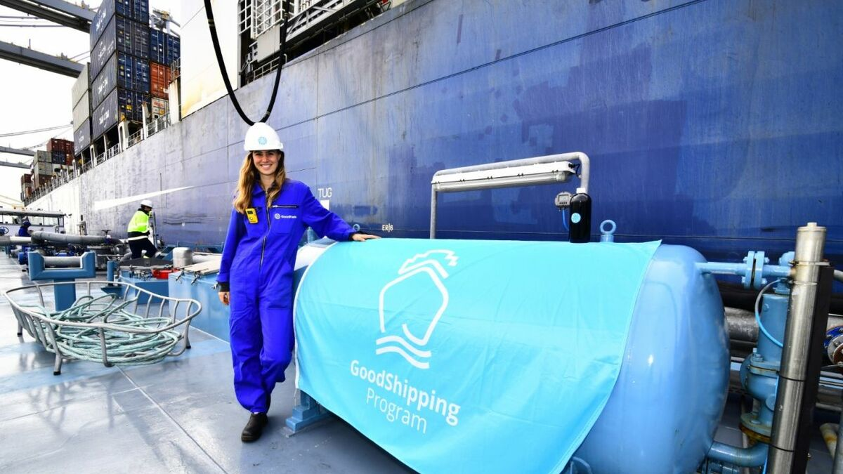 The biofuel oil trialled by CMA CGM across both vessels was supplied by GoodFuels