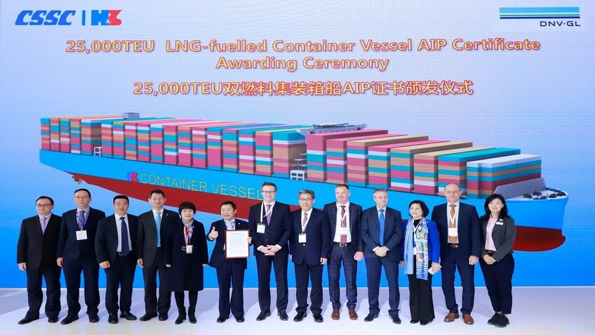 DNV GL awards AiP for gas-fuelled 25,000-TEU container ship design