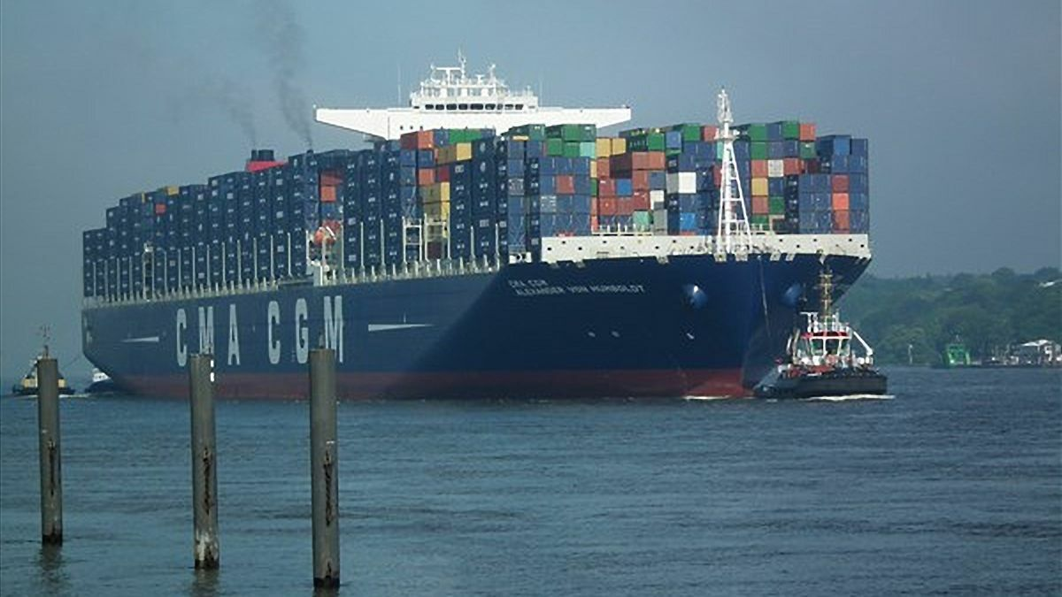 CMA CGM first trialled biofuels on Alexander Von Humboldt (image: Buonasera - Wikipedia)