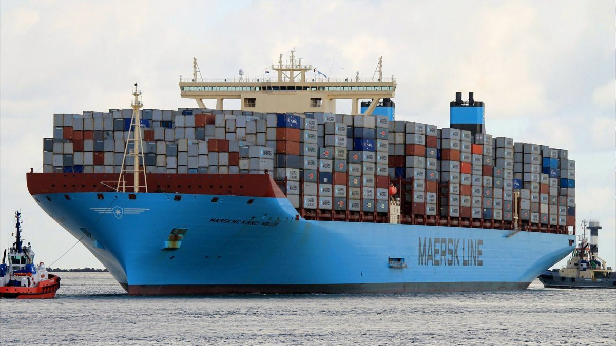 In Maersk's ocean business, EBITDA in 2019 increased 15% to US$4.Bbn (courtesy Maersk)