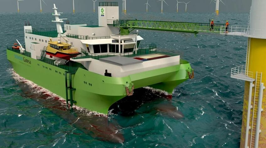 DEME's innovative SOV has as SWATH hullform for enhanced seakeeping