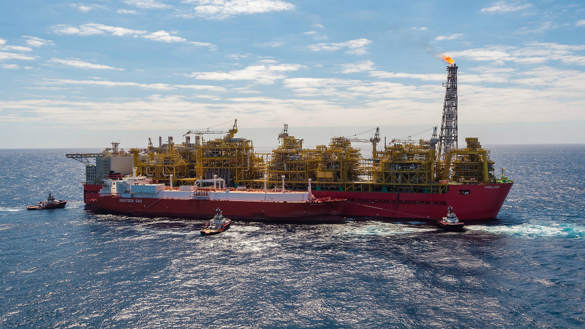 The first LNG cargo shipped from Prelude FLNG in June