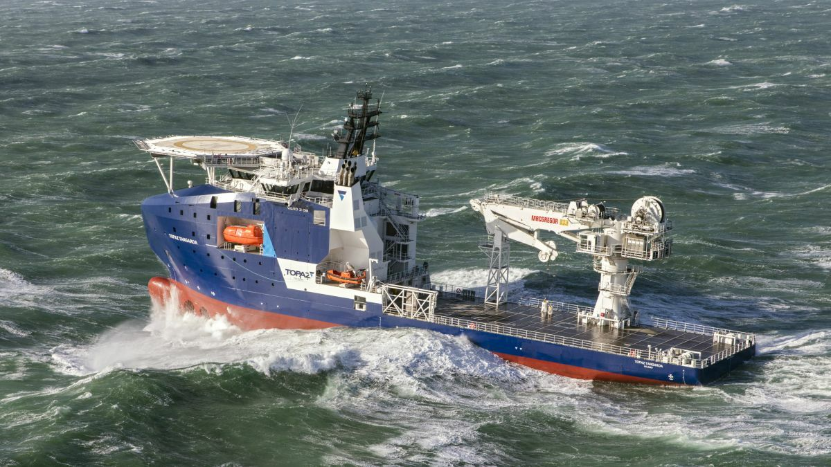 Topaz Tangaroa was one of two MPSV delivered to Topaz Energy and Marine in 2019