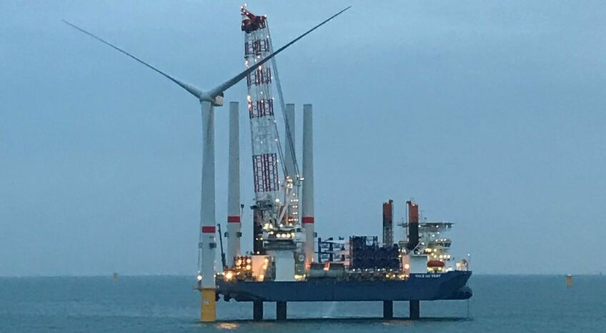 The turbines for Northwester 2 are being installed by Jan De Nul