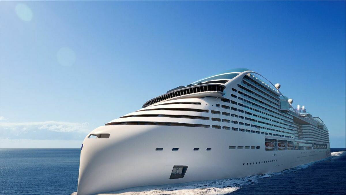 MSC Cruises' Europa is the first of five LNG-fuelled vessels on order (image: MSC Cruises)