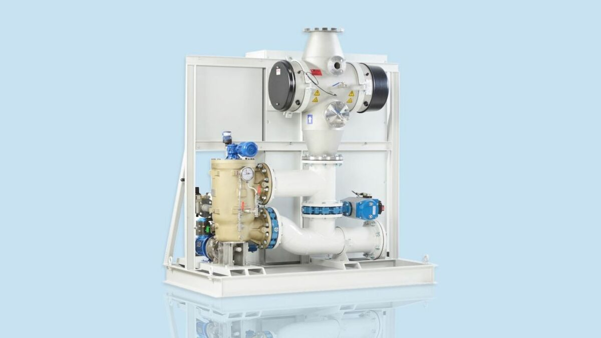 A PG-Hyde ballast water treatment system from Norwegian company PG Flow Solutions