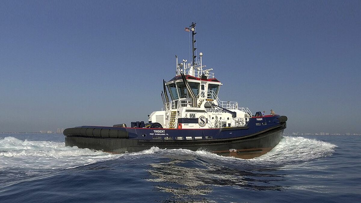 Seabulk Towing's first Rotortug Trident in operation off the US coast