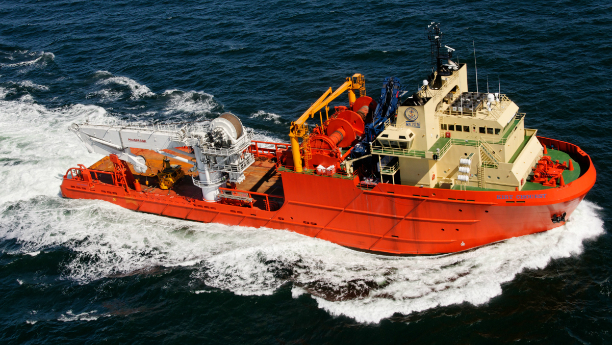 One of ECO's 216 OSVs is the 16,000-bhp AHTS vessel Kirt Chouest (image: OMSA)