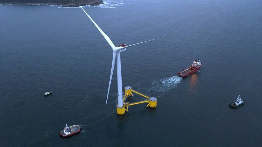 The first WindFloat Atlantic turbine is now providing power