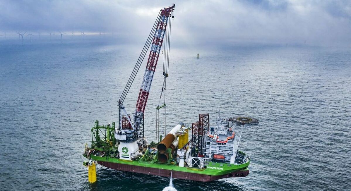 Foundation installation completed at Belgium's largest offshore windfarm