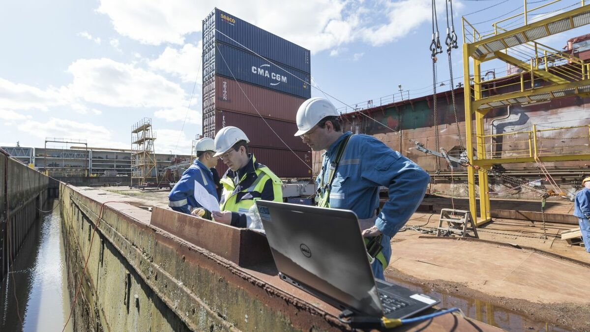 DNV GL's Modern Deck Container Stowage is based on real, full-scale tests (pictured)