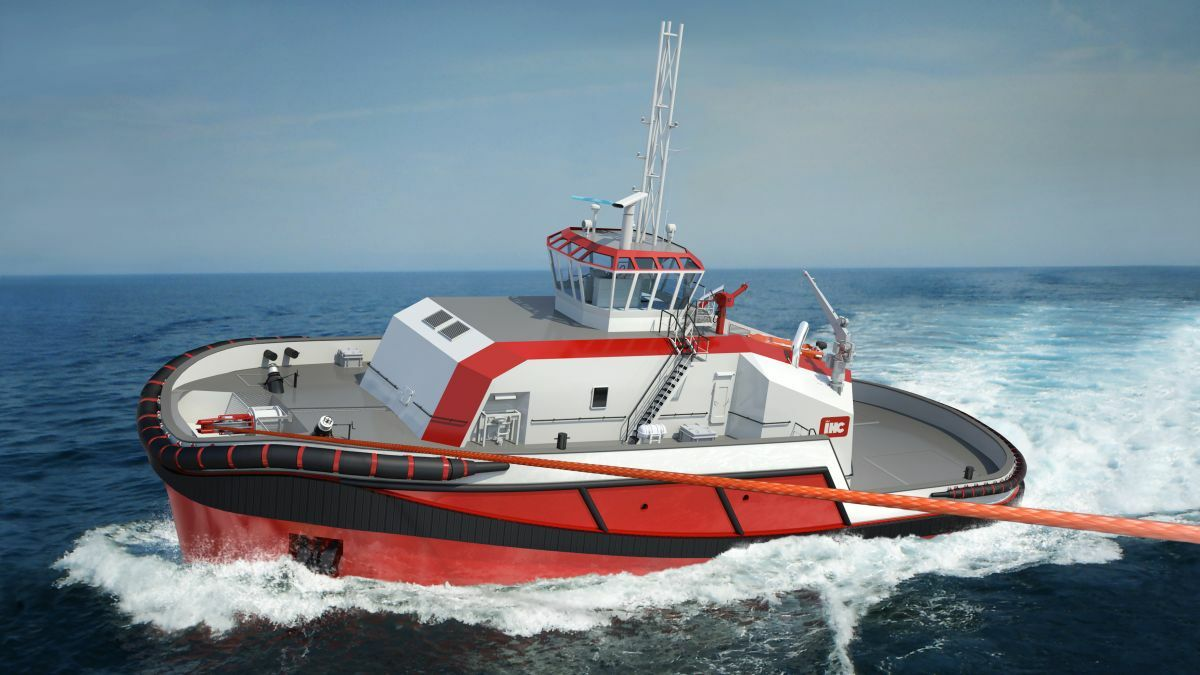 IHC's Delta Escort Tug T100-17 design with render/recover winch