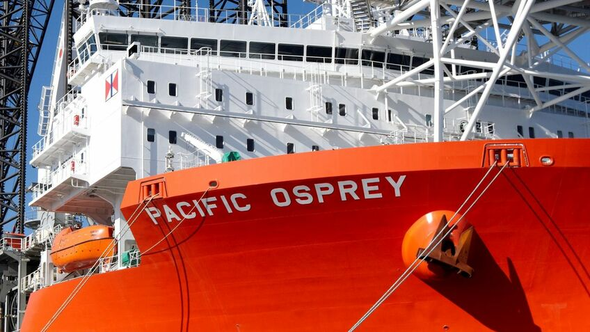 Pacific Osprey will install the 11-MW turbines for Hollandse Kust Zuid 1 & 2 and 3 & 4