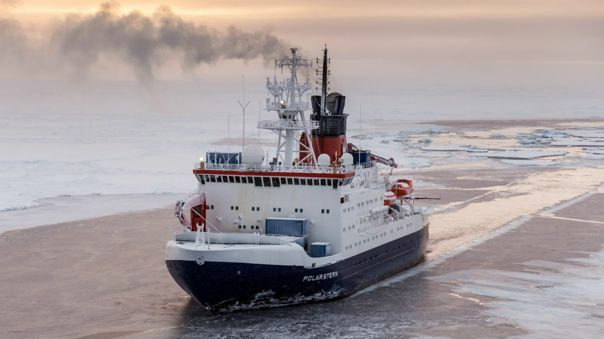 The retrofitted Polarstern is undertaking scientific research in the Arctic