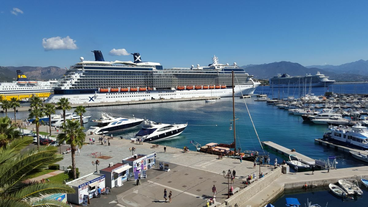 Residents in the port of Ajaccio, Corsica, made it clear they wanted low-emission ships