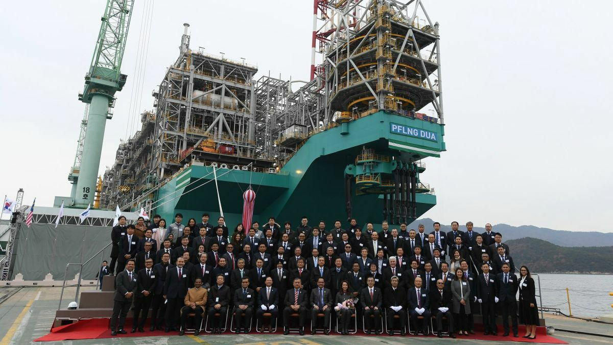 When commissioned in 2020, PFLNG Dua will operate in 1,300 m of water