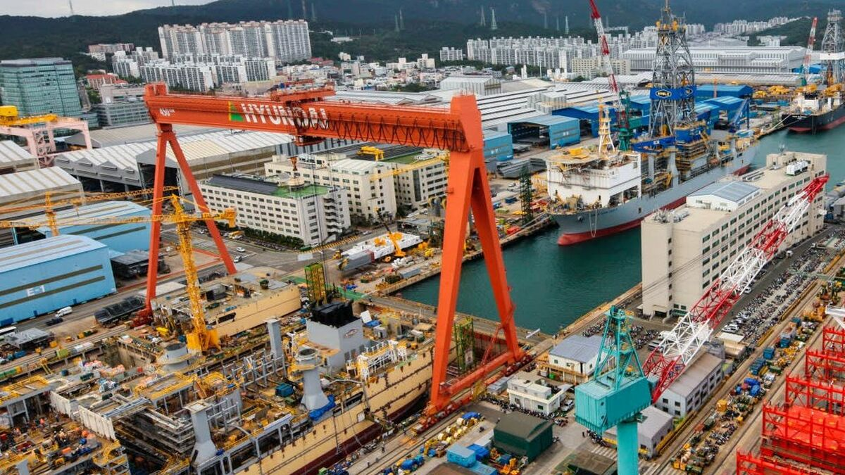 Hyundai Heavy Industries shipyard in South Korea is building ships with a smart notation