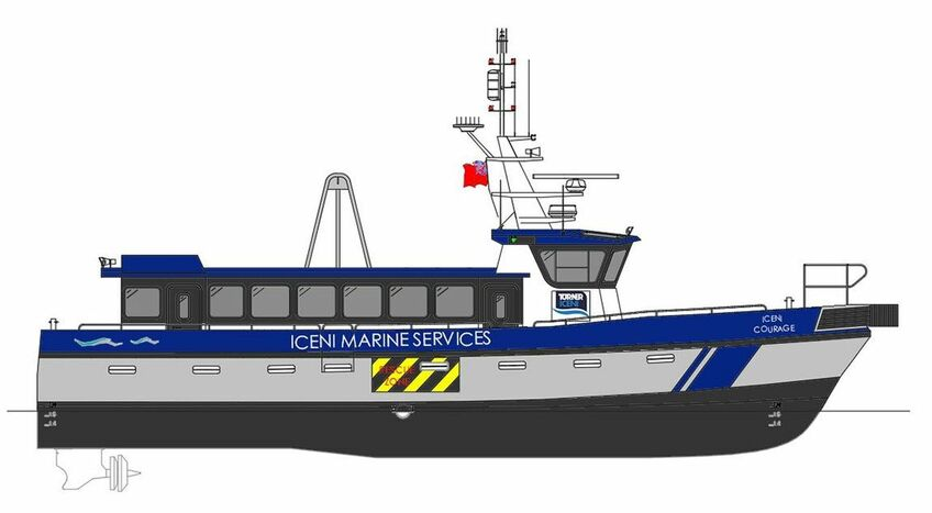Lengthening Iceni Courage will enable the CTV to continue working in the offshore wind sector