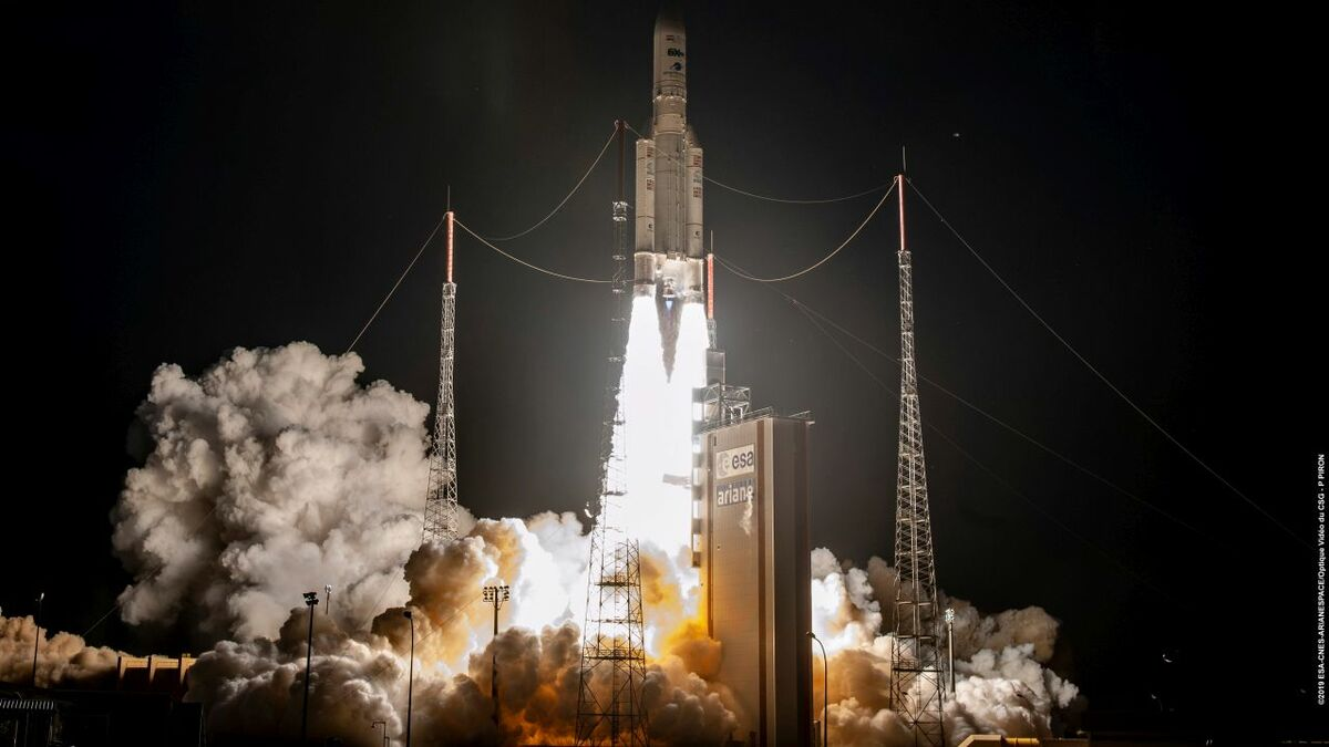 Arianespace Ariane 5 launched Inmarsat's GX5 satellite from Kourou, French Guiana