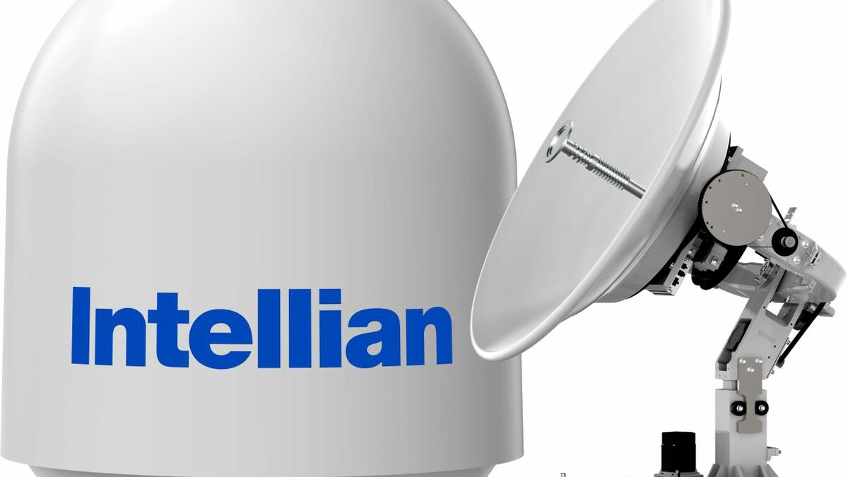 Intellian's v85NX antenna and radome was developed for Ku-band HTS connectivity