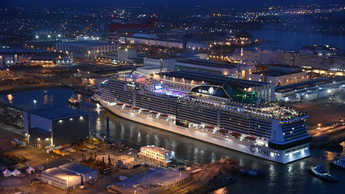MSC Grandiosa is the longest Meraviglia-class ship (credit Bernard Biger/Chantiers de l'Atlantique)