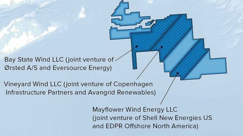 Mayflower Wind is one of a growing number of projects off the US east coast