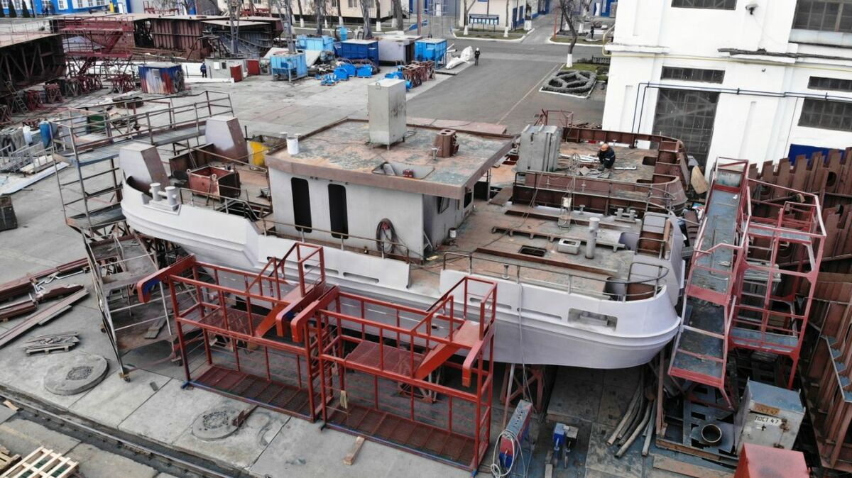 Nibulon built a T410 project tug hull structure at its shipyard in Ukraine