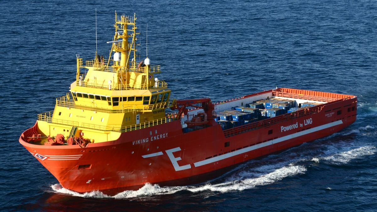 Viking Energy PSV will trial use of an ammonia fuel cell in Norway (Image: Eidesvik)
