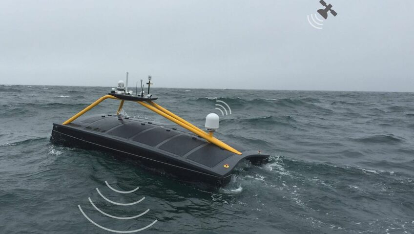 XOCEAN's USV surveyed the seabed around wind turbines while controlled from the shore