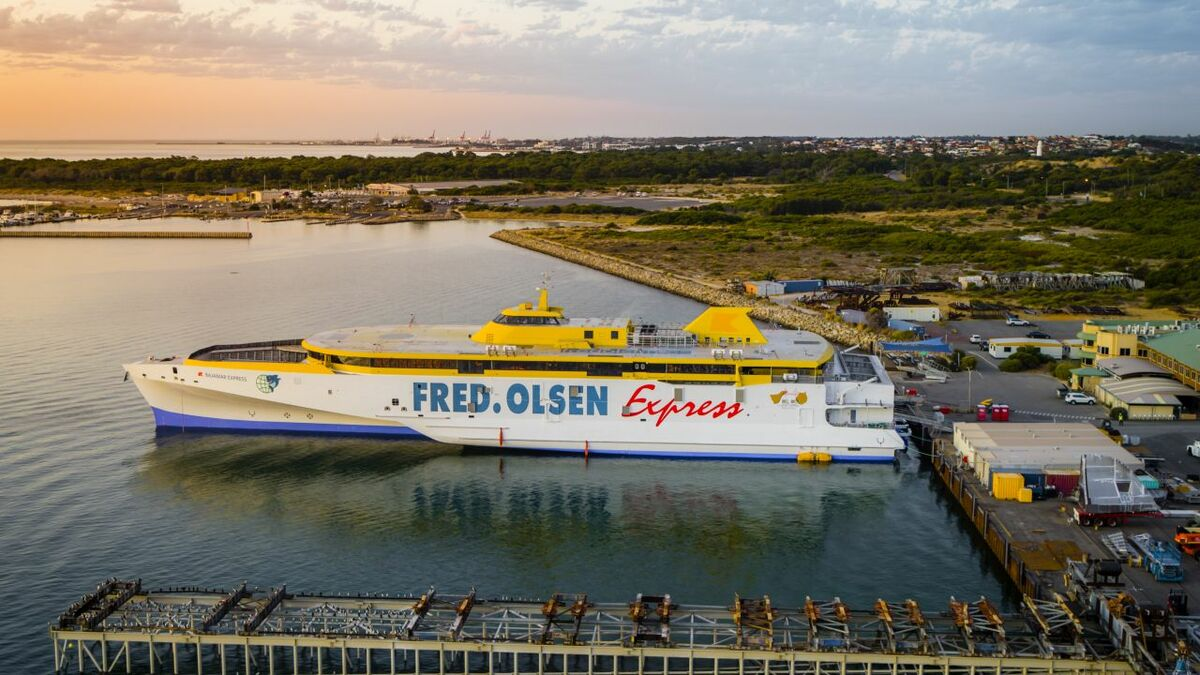 Austal Australia launches trimaran for Fred Olsen Express