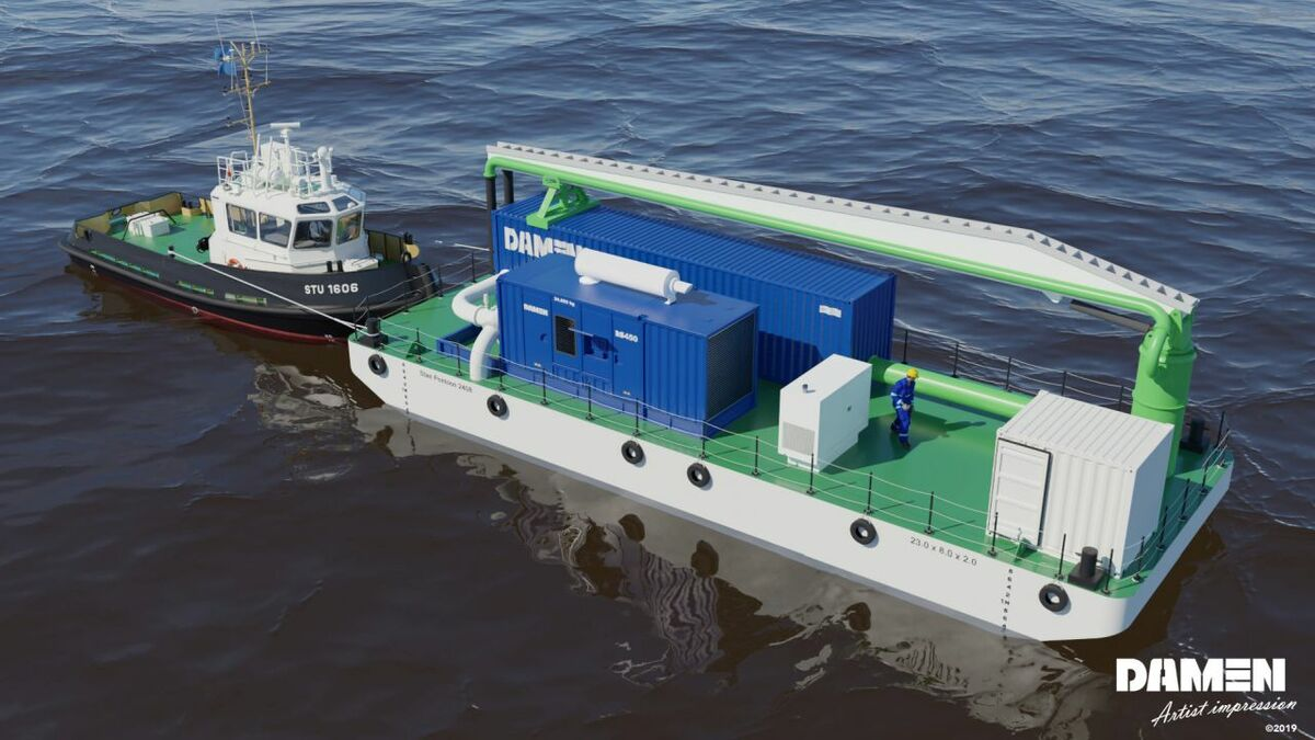 Damen's Ballast Water Pre Filtration Barge could maintain cargo operations in murky waters