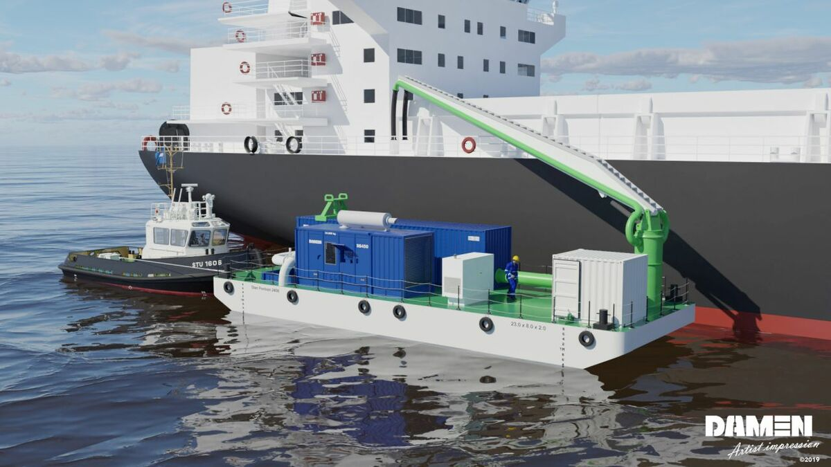 Damen's Ballast Water Pre Filtration Barge: an elegant solution to an inelegant problem