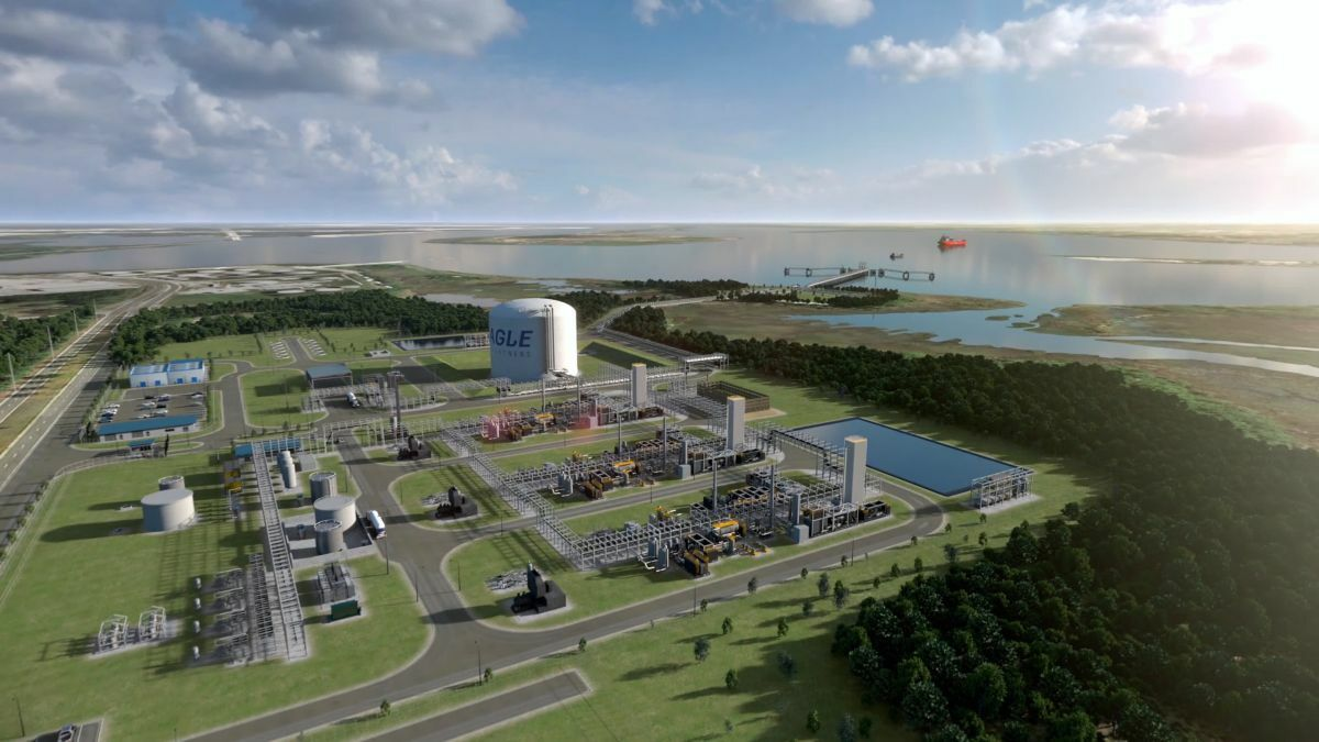 Eagle LNG's Jacksonville LNG Export Facility will have three small-scale liquefaction trains
